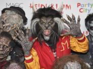 Gruselig: Halloween-Kostüm: Heidi Klum als Michael Jackson