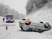 Wetter bleibt ungemütlich: Glätte, Schnee,Sturm: Etliche Verletzte bei Unfällen
