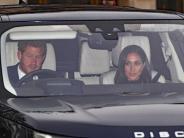 Britisches Königshaus: Harry und Meghan beim Familientreffen der Queen
