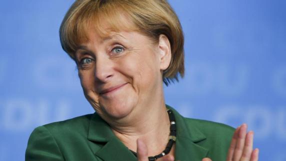 Bundeskanzlerin <b>Angela Merkel</b> hat sich per Post an die Wähler gewandt. - Bundeskanzlerin-Angela-Merkel-bei-einer-Wahlkampfveranstaltung-der-CDU-in-Schwerin