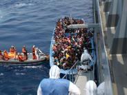 Flüchtlinge: 2000 Flüchtlinge an einem Tag im Mittelmeer gerettet