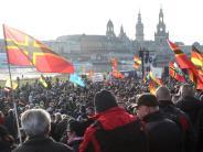 Pegida: Nur wenige Teilnehmer kommen zu Pegida-Aktionstag