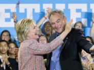 US-Wahl 2016: Clinton stellt ihren Partner im Kampf gegen Trump vor