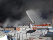 Wegen heftiger Brände: Keine Flüchtlinge mehr im «Dschungel von Calais»