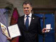 Zeremonie in Oslo: Frieden in Kolumbien:Nobelpreis an Santos überreicht