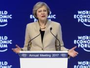 Weltwirtschaftsforum: Gegenwind für Mays Brexit-Kurs in Davos