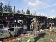 Mindestens 43 Tote: Autobombe trifft in Syrien Busse mit Umsiedlern