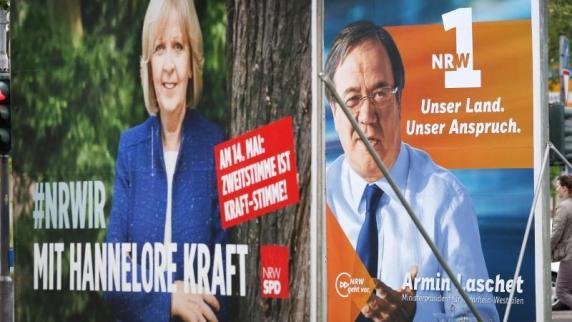 Landtagswahl in NRW hat begonnen: Enges Ergebnis erwartet