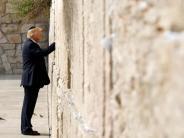 Besuch an der Klagemauer: Trump sieht seltene Chance für Nahost-Frieden