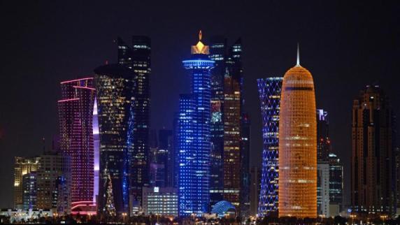 Die Skyline von Katars Hauptstadt