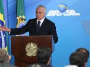 Schmiergeldzahlungen: Brasiliens Präsident Temer in Korruptionsaffäre angeklagt