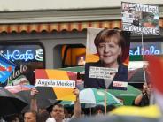 Sachsen: Ermittlungen nach mutmaßlichem Regenschirm-Angriff auf Merkel