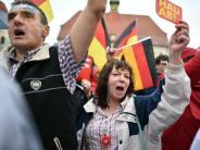 Protest und Hasstiraden: «Hau ab»: Merkels schwere Wahlkampfauftritte im Osten