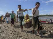 Verfolgte Muslim-Minderheit: Unicef:Schon bis zu 400 000 Rohingyas aus Myanmar geflohen