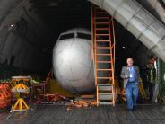 Historische Boeing 737: Begrüßungsfeier für einst entführte «Landshut» am Bodensee