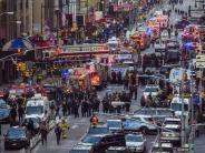 Bürgermeister de Blasio: Explosion in New York war versuchter Terroranschlag