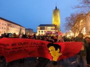 In Polizeizelle gestorben: Todestag von Oury Jalloh: Tausende demonstrieren in Dessau