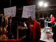 SPD: Rettet sie die Roten?Andrea Nahles wirbt in Augsburg für die GroKo