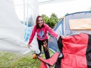 «Woanders noch viel schlimmer»: Küsten-Camper trotzen Schietwetter