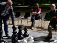Schwabmünchen: XXL-Schachspielenim Schwabmünchner Luitpoldpark