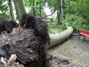 Schwabmünchen: Kurzes Unwetter hinterlässt Spuren in Schwabmünchen