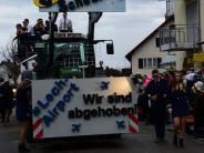 Klosterlechfeld: Sonnige Stimmung beim Faschingsumzug-trotztrüben Wetters
