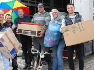 Langenneufnach/Stauden: 25 Tonnen Hilfsgüter gehen auf die Reise