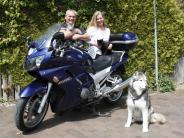 Untermeitingen: Zum Wohl der Tiere mit dem Motorrad unterwegs