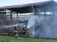 Birkach: Feldstadel brennt nieder