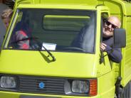 Bobingen: Mit der Ape auf den Camping-Platz