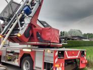 Königsbrunn: Freier Blick auf die roten Autos