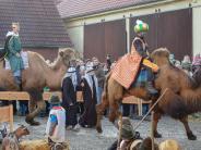 Oberottmarshausen: Der Einzug der Kamele