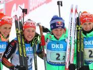 Biathlon: Deutsche Biathletinnen überzeugen durch Teamgeist