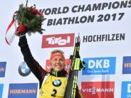 Zweites Gold in Hochfilzen: Laura Dahlmeier gewinnt WM-Titel in der Biathlon-Verfolgung