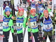 Zehnter WM-Titel: Jubiläumssieg für deutsche Damen-Staffel