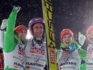 Wieder Mixed-Gold: Deutsche Skispringer deklassieren Konkurrenz