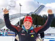 Schempp wird 11.: Biathletin Laura Dahlmeier gewinnt ihre dritte Kristallkugel