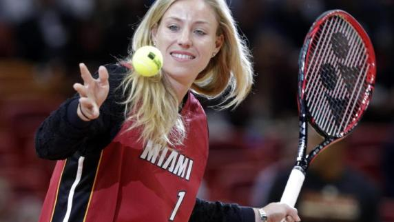 Vor dem Star in Miami: Kerber Gast beim Basketball