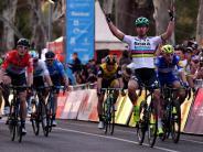 Rad-Weltmeister: Sagan gewinnt Auftaktrennen in Australien vor Greipel