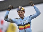 Radsport: Cross-WM: Belgier van Aert siegt - Meisen auf Platz 14