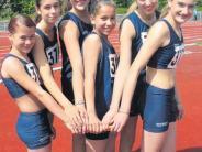 Leichtathletik: Vier Starts, vier schwäbische Titel