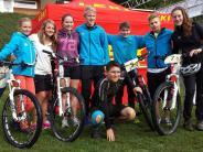 Mountainbike-Biathlon: Hannah Ruess radelt rasant und schießt sicher