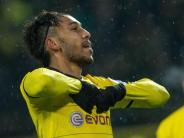 Fußball: Aubameyang auch im Pokal gegen VfB bärenstark