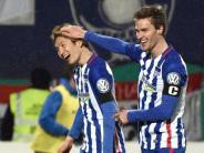 Fußball: Rotwein und freche Grüße:Hertha freut sich auf den BVB