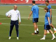 Fußball: Real-Coach Zidane vor der Meisterprüfung