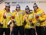 Bob-Piloten mit Heimsiegen: Lochner krönt EM mit Vierer-Titel
