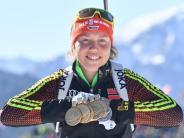 Vor Gesamtweltcup-Sieg: Biathletin Dahlmeier in Kontiolahti vor der Krönung