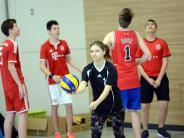 Volleyball: Neuburger Stadtmeisterschaft...: Volleyball: Neuburger Stadtmeisterschaft der Schulen