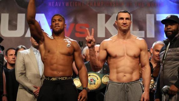 Boxen: Klitschko dreimal am Boden - Joshua siegt durch Ko