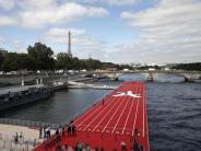 Sprintstrecke auf der Seine: Paris wirbt mit schwimmender Laufbahn für Olympia 2024